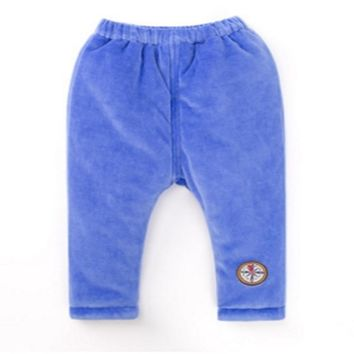 24/5000 2016 Winter new baby thickened pants boys and girls warm baby trousers