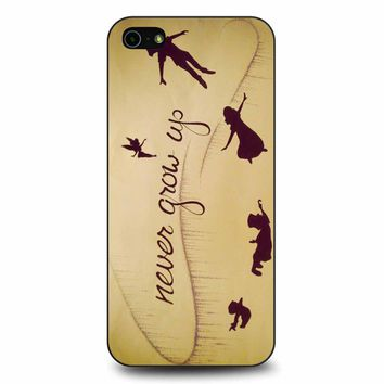Peter Pan Never Grow Up iPhone 5/5s/SE Case