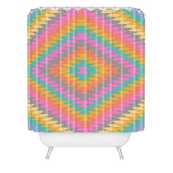 Bianca Green Ancient Rainbow Shower Curtain