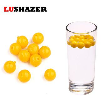 LUSHAZER 100pcs/lot fishing soft lure beads 8mm/10mm 0.15g/0.3g isca artificial silicone bait soft plastic lures swimbait China