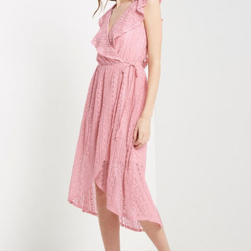 Blush Resort Lace Maxi Dress