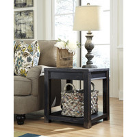 T732-2 Gavelston Square End Table - Black - Free Shipping!