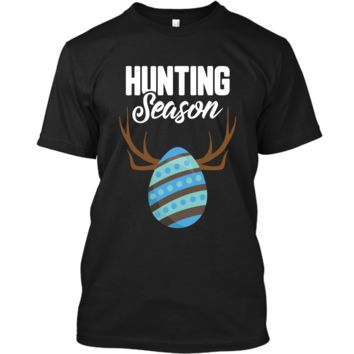 Hunting Season Cute Bunny Funny Easter T-Shirt Boys Girls Custom Ultra Cotton