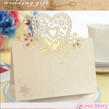 50pcs Laser Cut Place Cards Wedding Name Cards Guest Name Place Card Wedding Party Table Decoration,wedding decoration,wedding