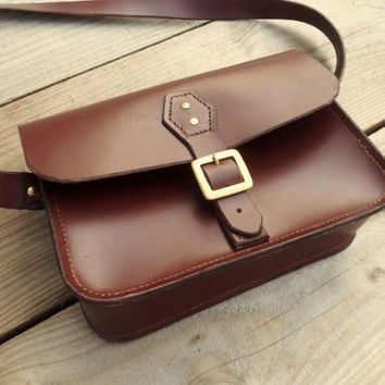 Ladies Leather Satchel - Handmade - Perfect Handbag or School Bag!