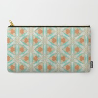 Moorish Teal Terracotta Carry-All Pouch by ALLY COXON | Society6