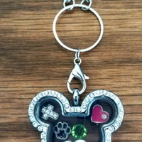 Crystal Mickey Memory Lockets Includes FREE chain and 5 charms!