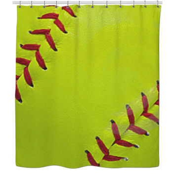 Softball Shower Curtains