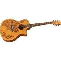 Luna Guitars Henna Oasis Cedar Series II Acoustic-Electric Guitar | GuitarCenter