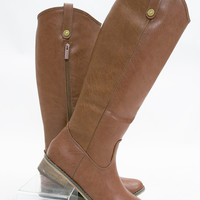 Classic Textured Riding Boots