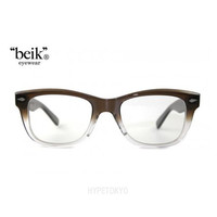 """beik"" eyewear : Rivers [Brown Gradation/Clear Lens]"