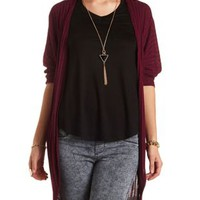 Dolman Sleeve Cocoon Duster Cardigan by Charlotte Russe