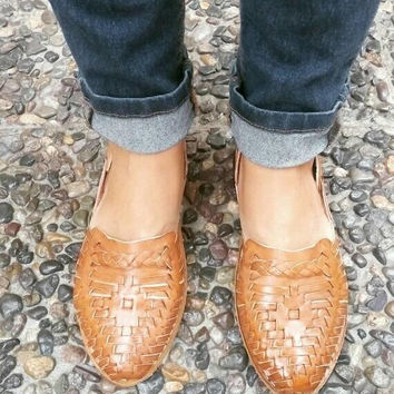 Honey - Mexican Leather Huaraches - For Her