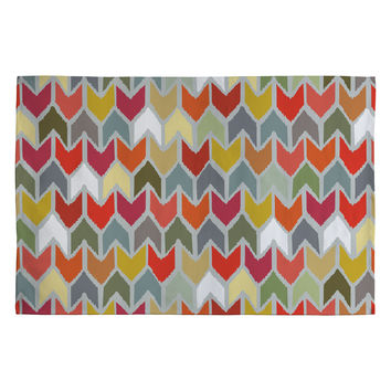 Sharon Turner Beach House Ikat Chevron Woven Rug