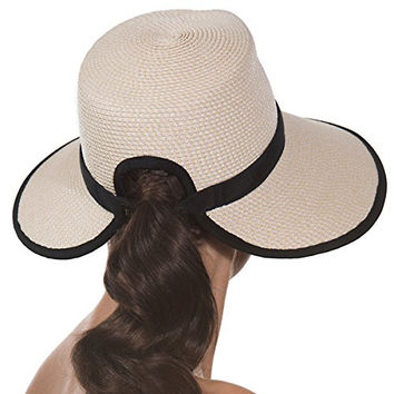 Eric Javits Women's Headwear Suncrest Hat (Cream/Black)