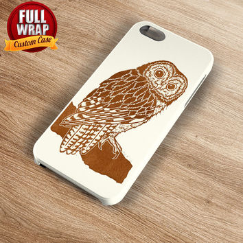 Brown Owl Art Work Full Wrap Phone Case For iPhone, iPod, Samsung, Sony, HTC, Nexus, LG, and Blackberry