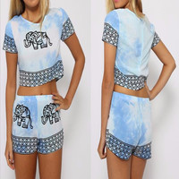 Light Elephant Couture Two-Piece
