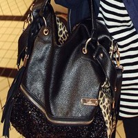 Fashion Tassels Sequined Leopard Handbag Shoulder Bag  from styleonline