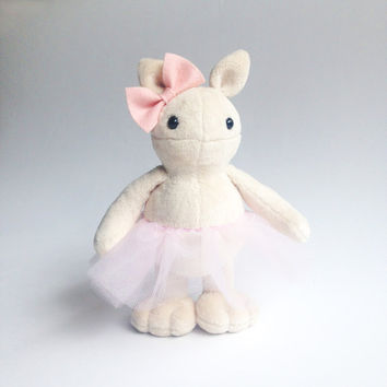 Pudding the ballerina monster - ballet doll - stuffed toy - plush toy - Plushie - Softie - Soft sculpture - Stuffed animal -  Nursery decor