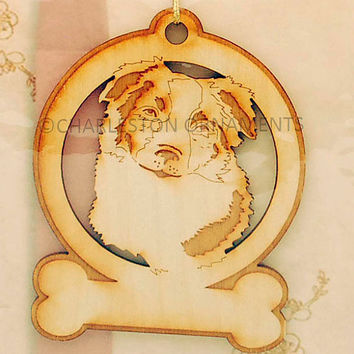 Custom Engraved Border Collie Ornament FREE PERSONALIZATION Border Collie Lovers Christmas Gift, Border Collie Christmas Ornament