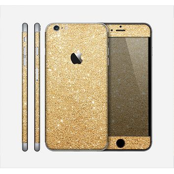 The Gold Glitter Ultra Metallic Skin for the Apple iPhone 6 Plus