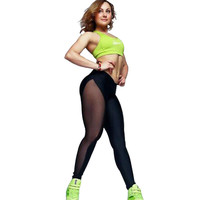 HEYounGIRL women fitness lace leggings women 2016 jogging pants Black Splice sport slim thin legging Mujer Femme