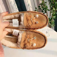 UGG High quality new fashion bow-knot keep warm shoes women