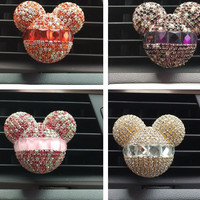 Luxury car ornaments girl Exquisite diamond Air conditioning outlet  Car air refreshing agent Car styling Perfumes 100 Original