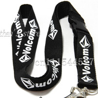 FREE SHIPPING Enthusiasts Men skateboarding key lanyard sport logo Diamond black id card neck strap