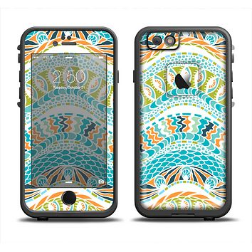 The Vector Teal & Green Snake Aztec Pattern Apple iPhone 6 LifeProof Fre Case Skin Set