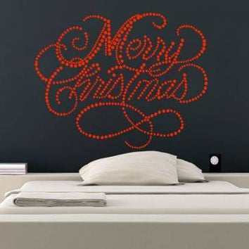 Merry Christmas Stickers Decoration Wall Decals Holiday Vinyl Home Decor SM213