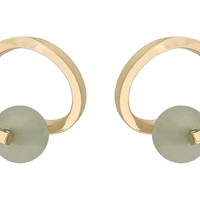 Green Urbino Twist & Bead Circle Stud Earrings | Oliver Bonas