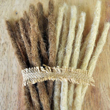 Crocheted Dreadlock Extensions x 10, Single Ended 45cm/17inches & 1cm wide PROTOTYPE