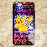 pikachu galaxy iPhone 4/4S, 5/5S, 5C Series, Samsung Galaxy S3, Samsung Galaxy S4, Samsung Galaxy S5 - Hard Plastic, Rubber Case