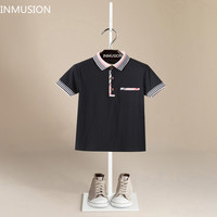 INMUSION summer in the Brand design children's clothing designer boy and girls polo shirt kids tops classic plaid casual tees