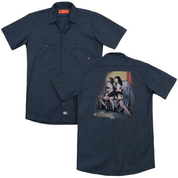 Bettie Page - Notorious Color (Back Print) Adult Work Shirt