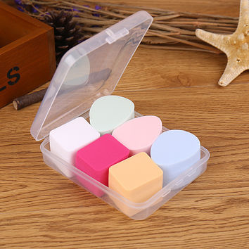 Professional On Sale Make-up Tool Hot Deal Hot Sale Beauty Dry-wet Dual Purpose Water Droplets Box Set Powder Puff [6533827399]