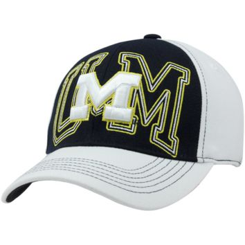 Top of the World Michigan Wolverines Mixer One-Fit Hat - White/Navy Blue