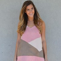 Candy Kisses Color Block Dress