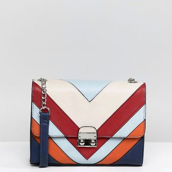 Stradivarius Multi Stripe Cross Body Bag at asos.com