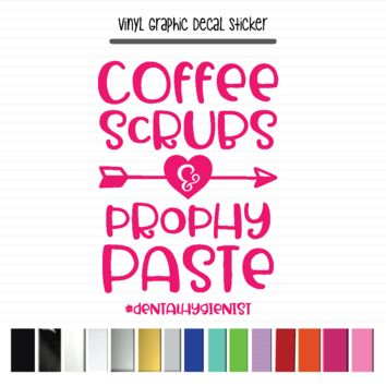 Dental Hygienist, Coffee Scrubs Prophy Paste