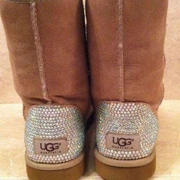 ICIK8X2 Swarovski Crystal Embellished Classic Tall UGG Boots - Winter/Holiday 2013