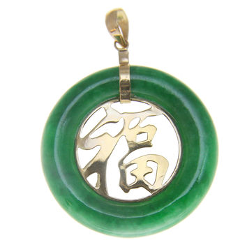 Best Jade Pendant 14k Gold Products On Wanelo