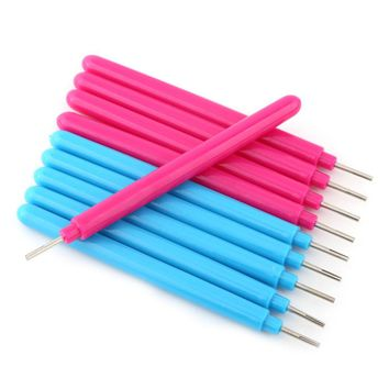 10Pcs Papercarft Plastic Slotted Paper Quilling Tools DIY HandCraft Curling Pen New 2017