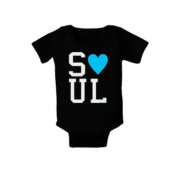 Matching Soulmate Design - Soul - Blue Baby Bodysuit Dark by TooLoud
