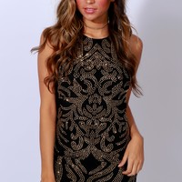 Sequence Of Events Bodycon Black/Gold
