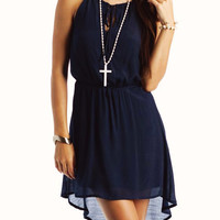 high-low-keyhole-dress NAVY - GoJane.com