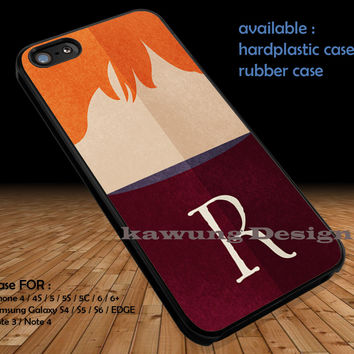 Ron Weasley Face Harry Potter Uniform DOP389 case/cover for iPhone 4/4s/5/5c/6/6+/6s/6s+ Samsung Galaxy S4/S5/S6/Edge/Edge+ NOTE 3/4/5 #movie #hp