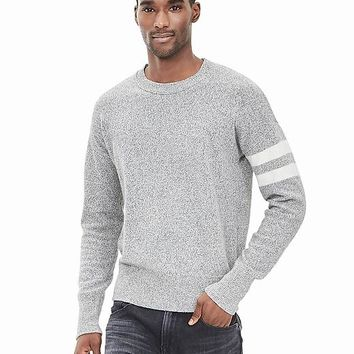 Banana Republic Mens Stripe Sleeve Sweater Pullover