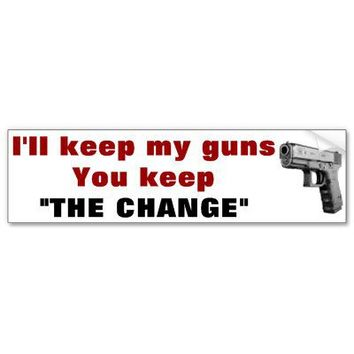 keep your guns bumper stickers from Zazzle.com